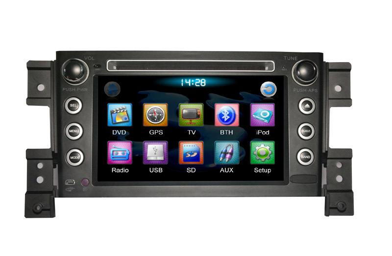 2 Din Car GPS Navigation for SUZUKI GRAND VITARA with built-in GPS Radio dual Zone TV BT(TID-8088)