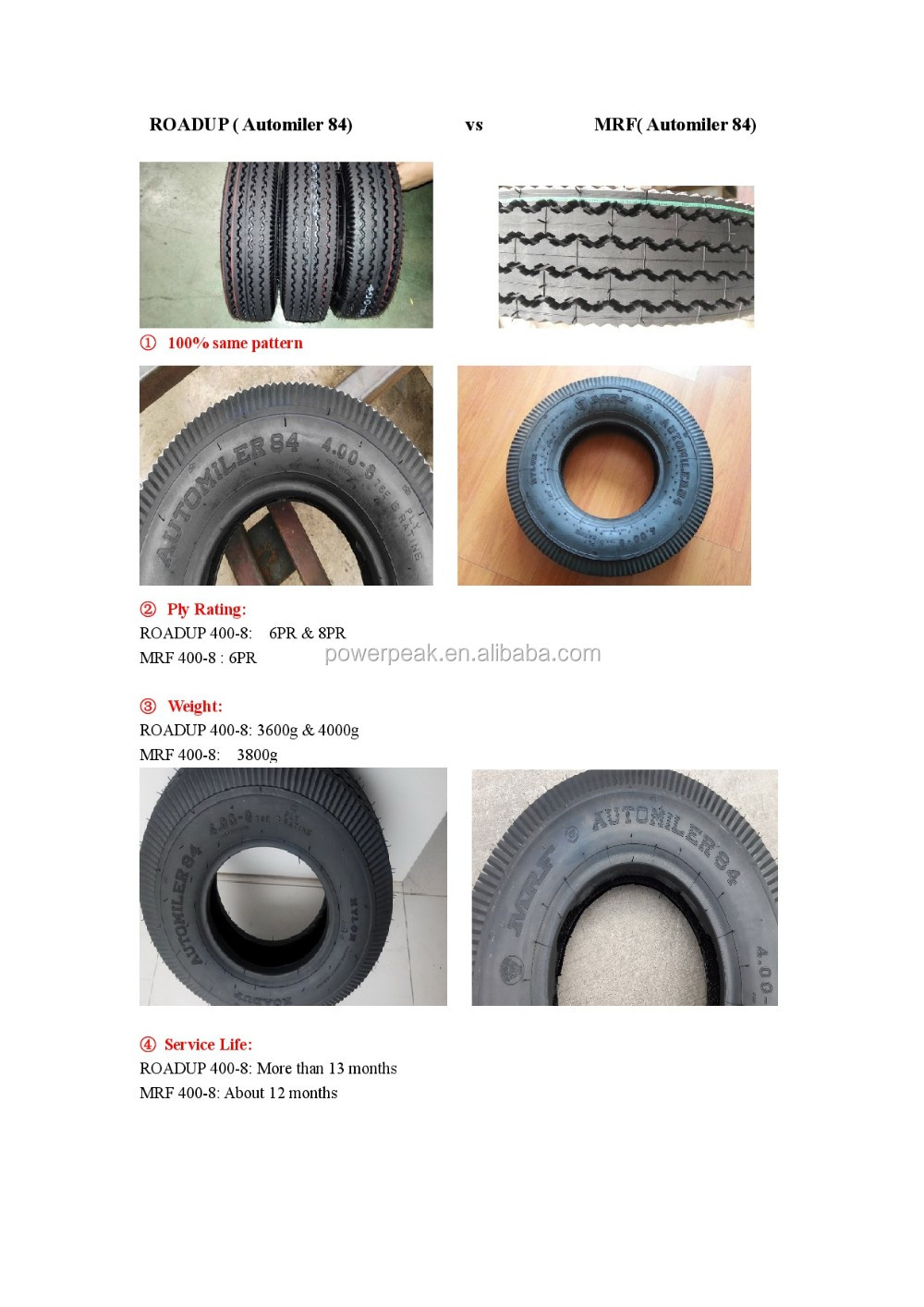 India Bajaj three wheeler motorcycle tyre 400.8 8PR tyre 4.00-8