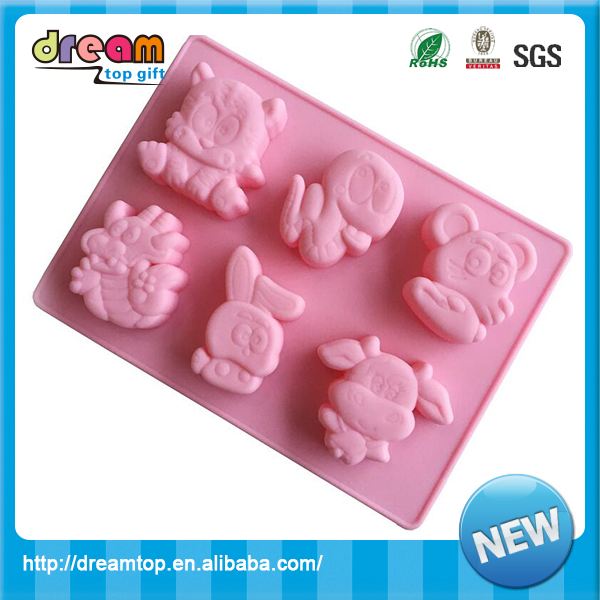 Versatility silicone Chinese zodiac mould for bread biscuit baking ice cream mold