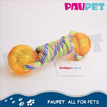 China best factory directly pet tpr toy with rope