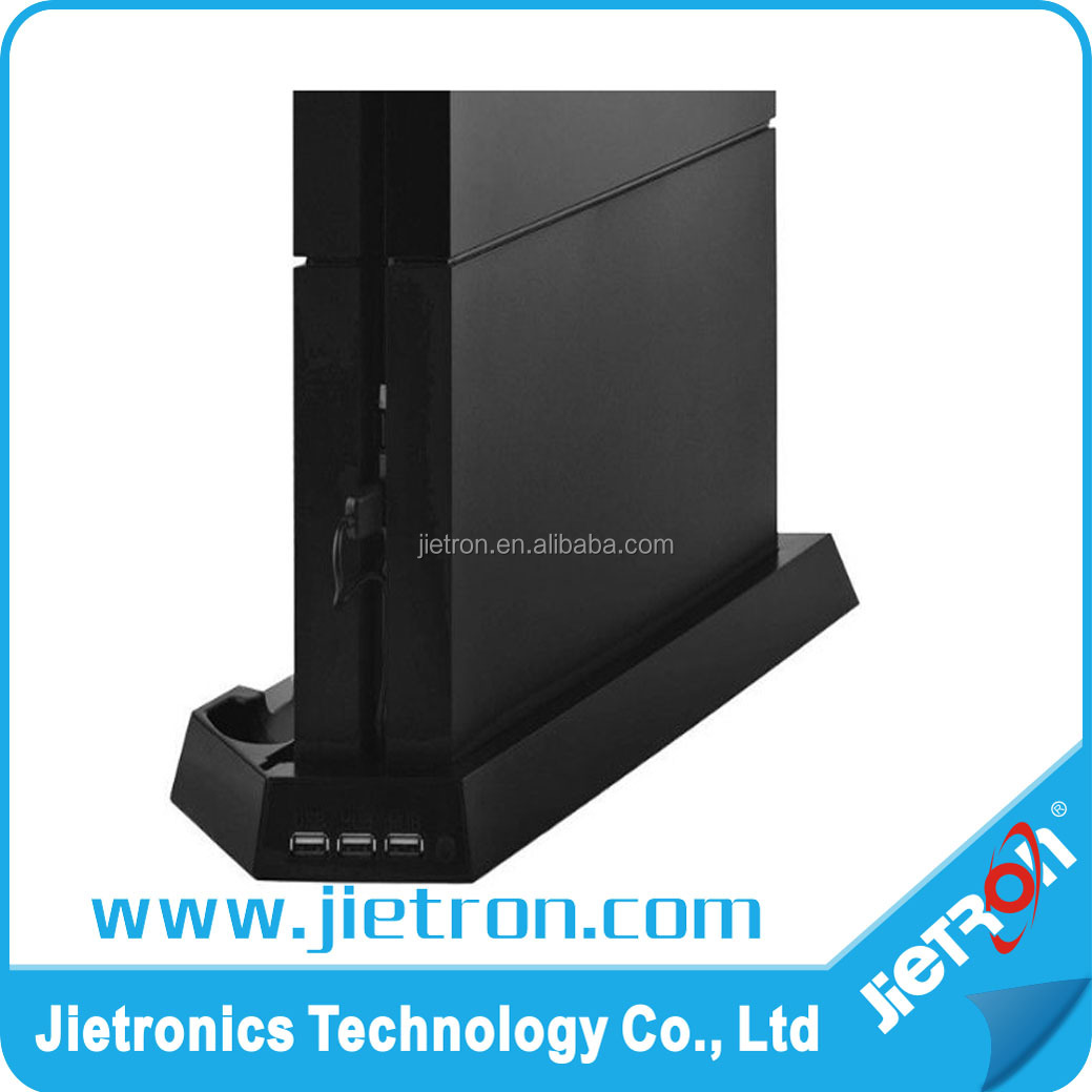 Vertical USB Charger Dock Station Charging Bracket Stand with Cooling Cooler Fan for Playstation 4 PS4