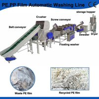 Full Automatic PP,PE Plastic Film Recycling Line/Washing Line