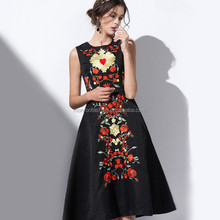 monroo new arrival high-end fashion embroidery design women dress