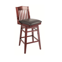 Swivel Wooden Bar Stool High Chairs for restaurant