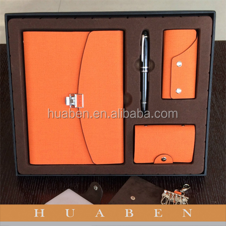 gift sets customized bandage PU leather notebook manufacturer