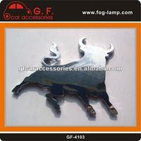 3D chrome car sticker (Cattle)