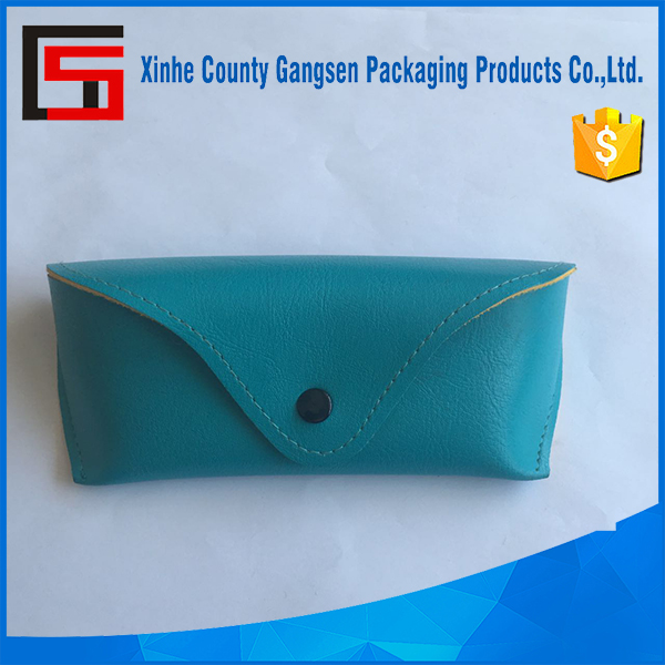 Soft PU leather Eyeglass pouch