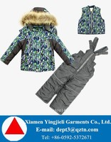 Fur Hooded Children Snowsuits High Quality OEM Children Snowsuits