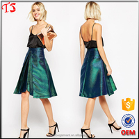 Factory wholesale 2015 new products pictures of a-line skirt fancy skirt top designs