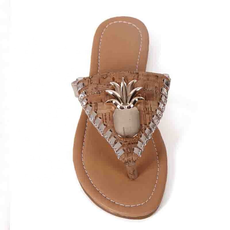 Wholesale Latest Design Ladies Pineapple Pu <strong>Sandals</strong>