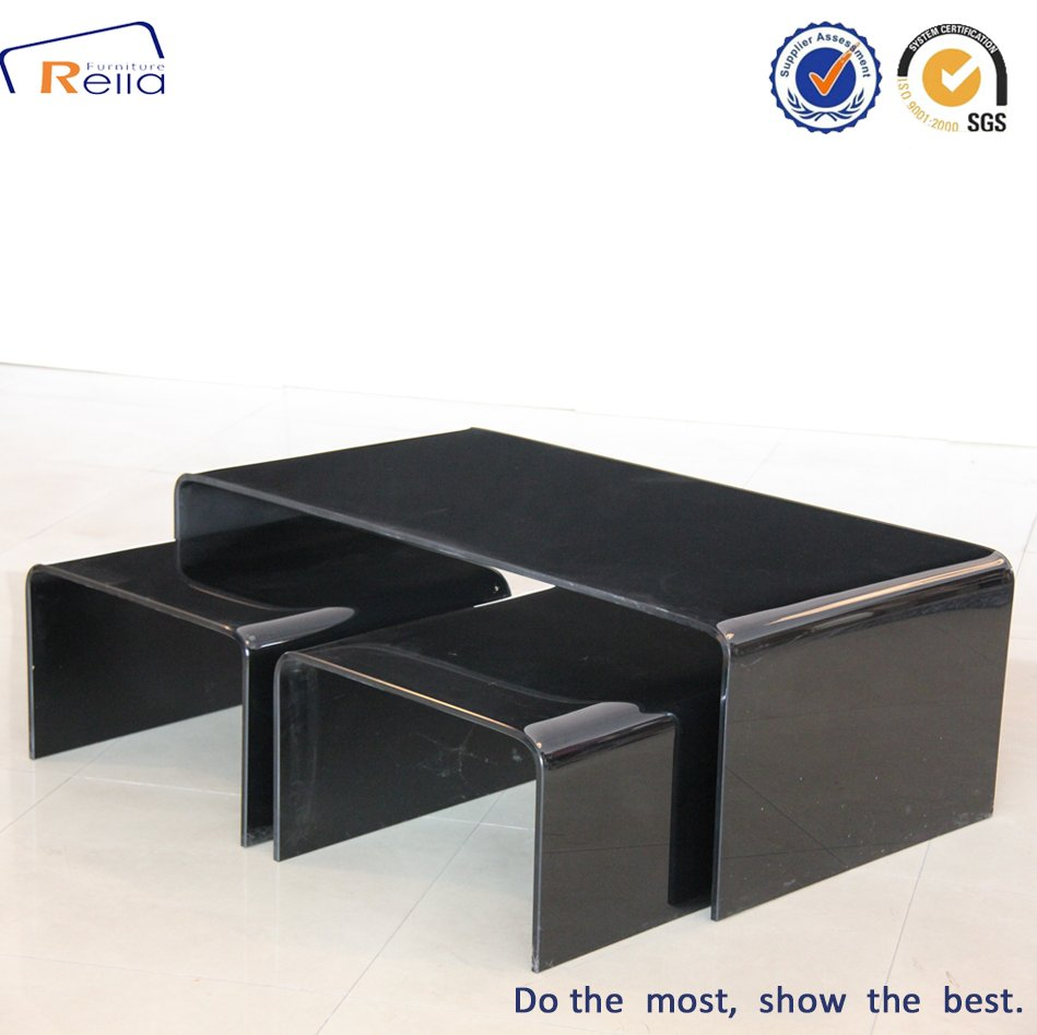 New Design Best Selling Black Glass Coffee Table,Tea Table