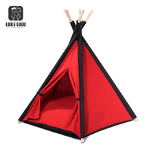 Portable newest indoor outdoor red waterfroof dog tent for pet for cat