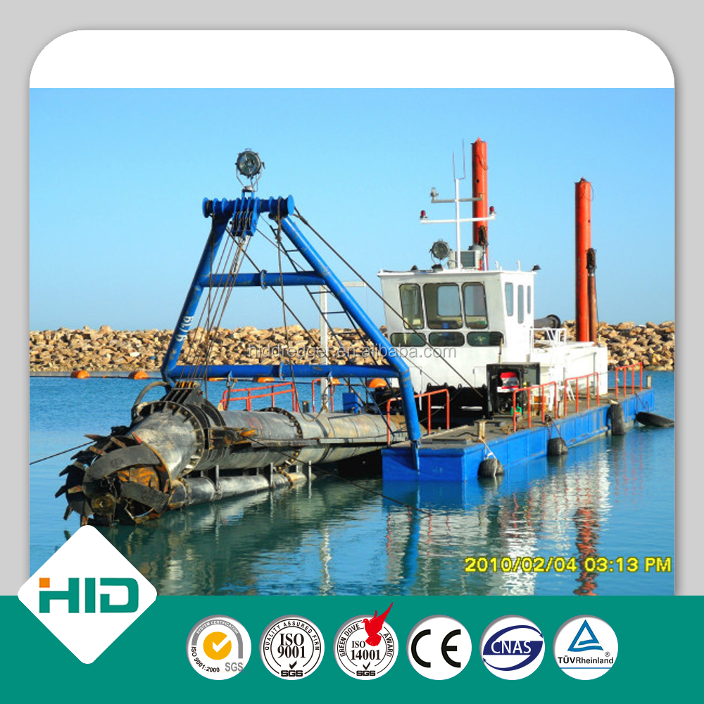 HID brand 12 inch low price of watermaster dredger sand dredger HID300 gold dredging boat for sale