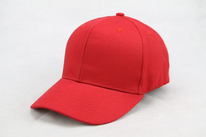 Red cotton 6 panel unisex custom fitted flex fit/flexfit baseball caps and hats embroidered