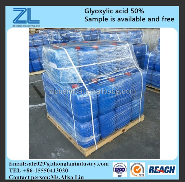 Using glyoxylic acid as a substitute for formaldehyde ,CAS NO.:298-12-4