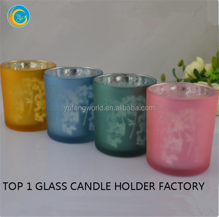colored glass crown candle holder decoration tealight votive crown candle holder for sale