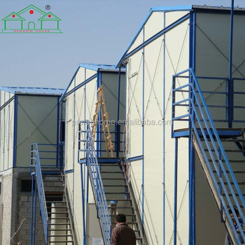 Customized light steel structure prefab ready made house for temporary housing