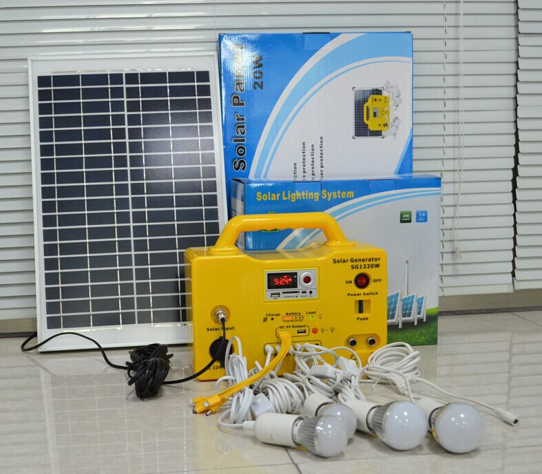Off Grid Solar System Power System DC12V Solar Kit For India Market Solar System with DC Fans