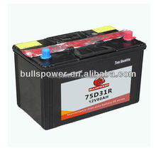 dry car battery japan car battery brands Storage Battery 12v75ah N70Z/75D31R