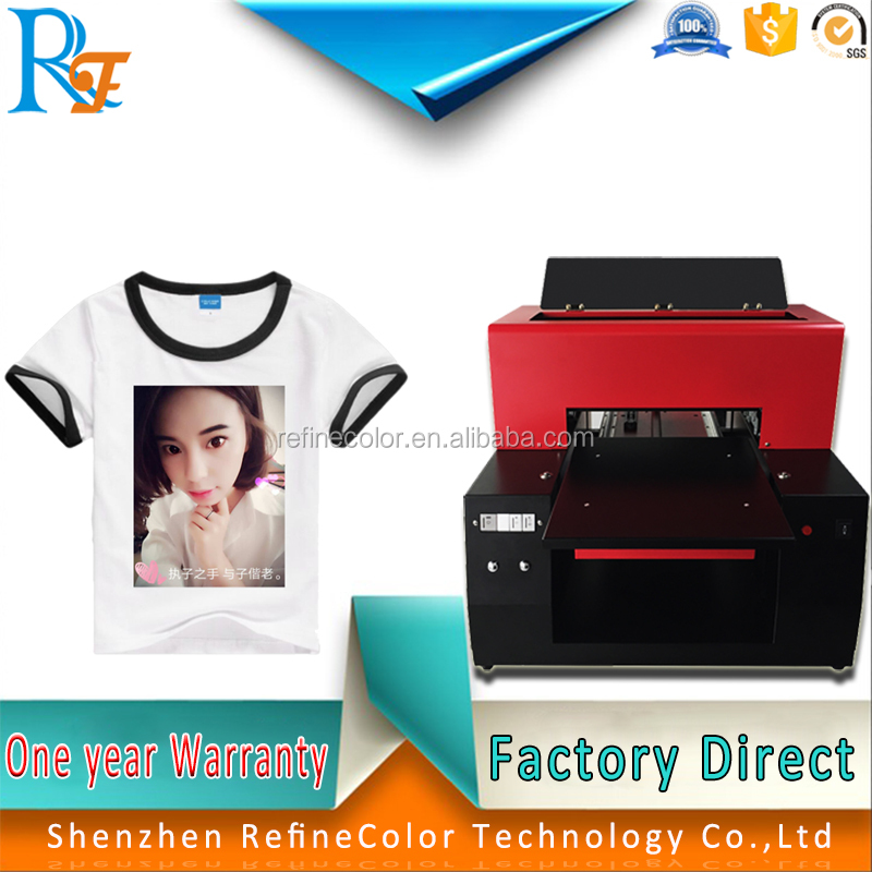 A3 Flatbed Fabric t-shirt printer for baby Clothes