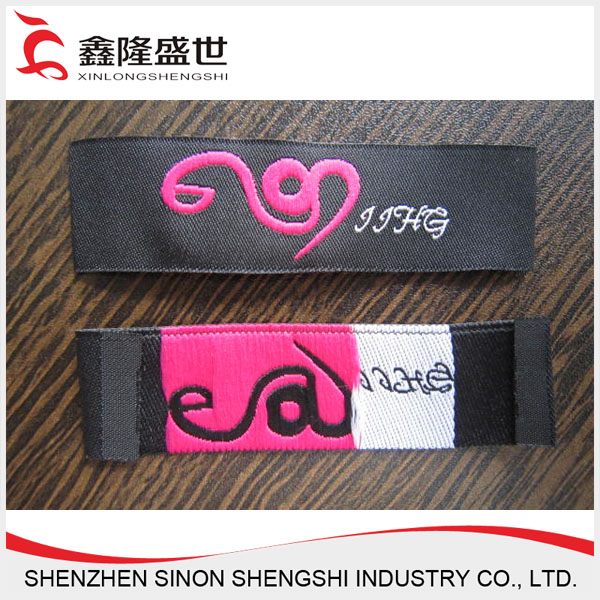 Best quality textile fabric fake clothing designer labels for shoes