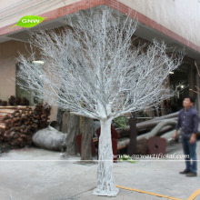 WTR1103 GNW 3m White plastic dry trees with fiberglass trunk memory artificial tree without leaves