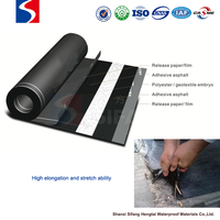 improved roofing materials Self-adhering modified bitumen roll with cleaner and faster application