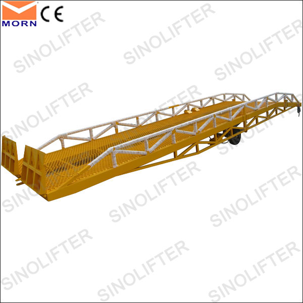 15T hydraulic load container yard ramp