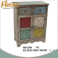 handmade wood side cabinet design , vintage home cabinet furniture