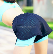 2017 Orange Women Sport Fitness Yoga Shorts Athletic Breathable Cool Ladies Sport Fitness Jogging Running Short