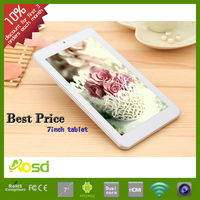 Cheap prices dual core 7 inch android pc tablet