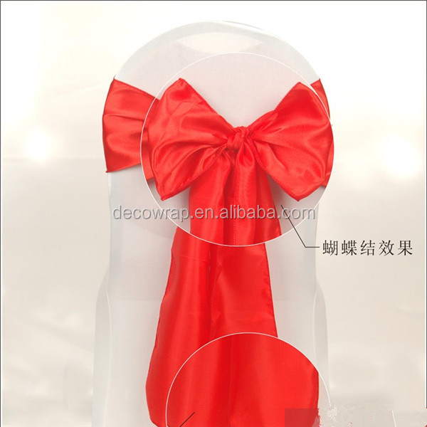 Satin Polyester Banquet Wedding Wholesale Chair Cover Sash