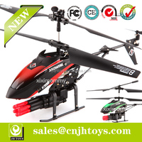 WLToys Missile Shooting 3.5CH Rc Helicopter With Gyro V398 WL Helicopter