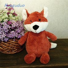 China plush toy factory new design birthday gift for kids cartoon fox 26 cm plush <strong>animals</strong>