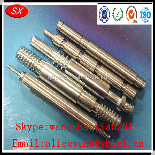 Precison and custom steel aluminum brass pin shaft for Add electric motor to drive shaft