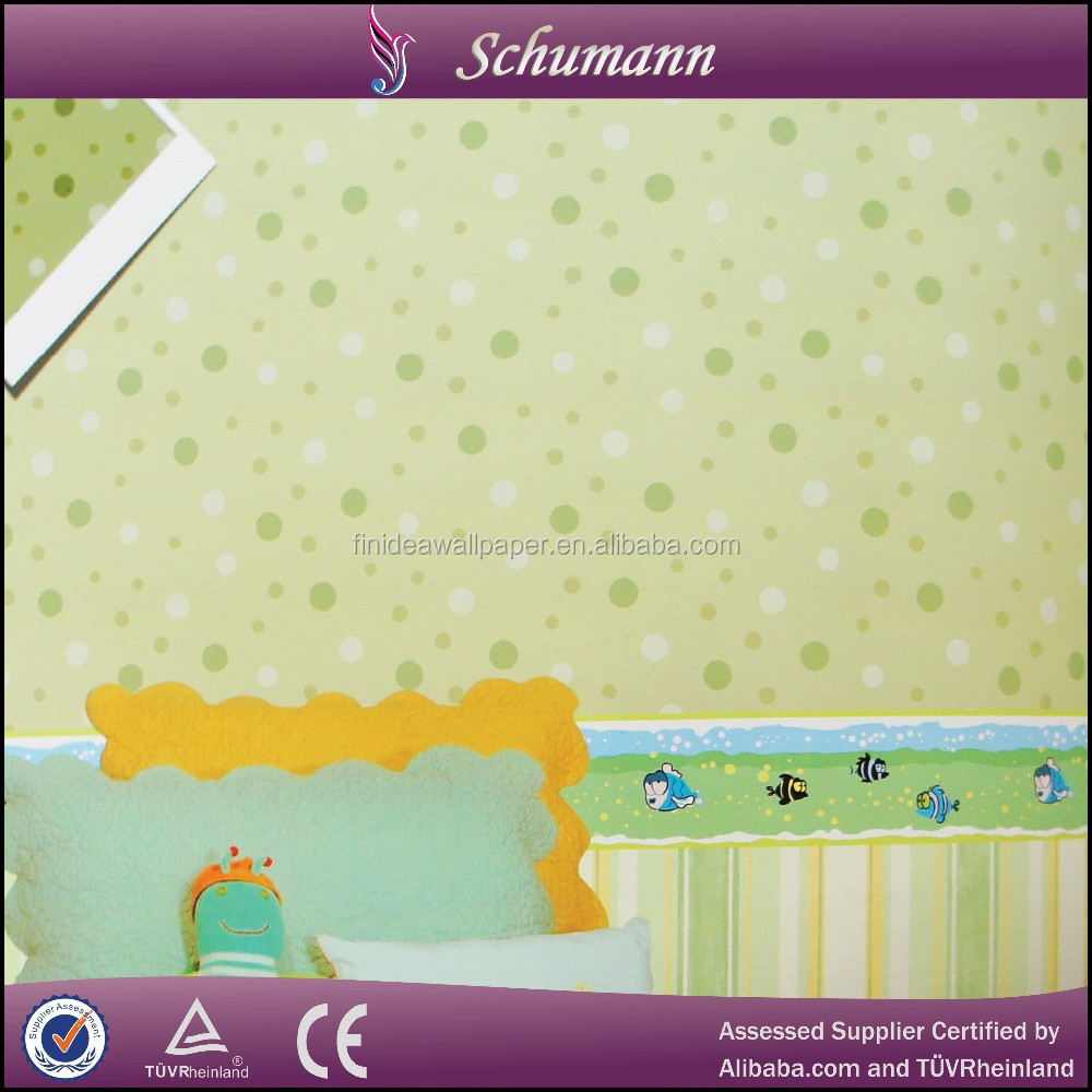 New fashioin light color child non-woven wallpaper for kids room wall