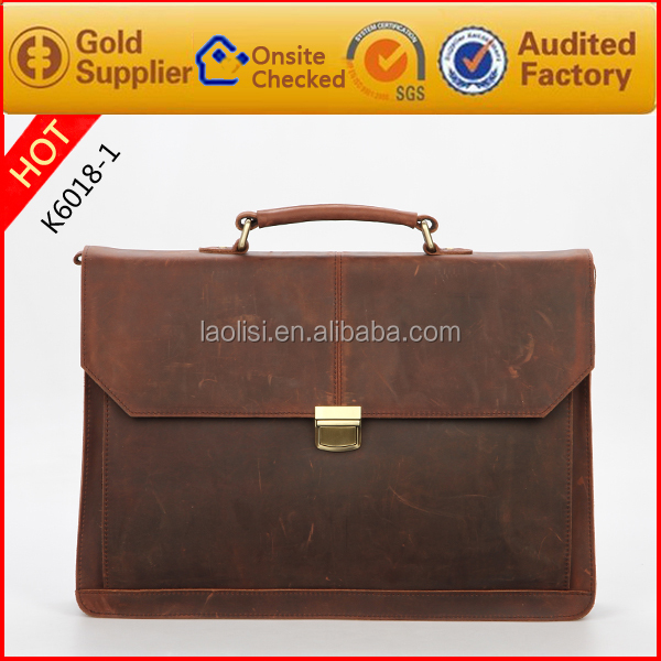New products for 2017 european style executive briefcase genuine leather bags men