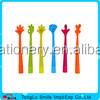 cute pen promotional finger style soft rubber ball pen