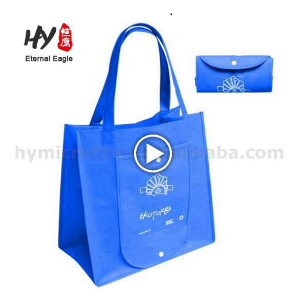 Reusable logo print non woven shopping bag