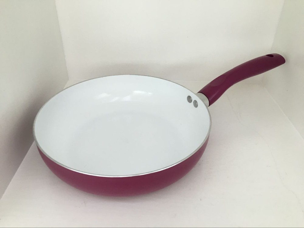 9.5inch aluminium ceramic coating frying pan with lid high quality