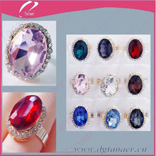 Alloy large diamond size changeable cheap stone ring