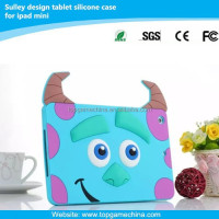 2015 new style silicon rubber case for iPad mini sulley design case