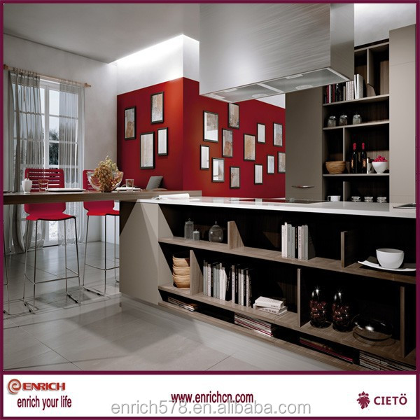 Bestselling melamine used functional kitchen cabinets from ENRICH factory