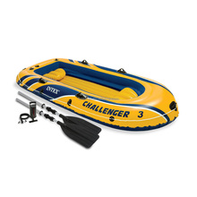 INTEX 68370 Challenger 3 Persons Inflatable Plastic Boat