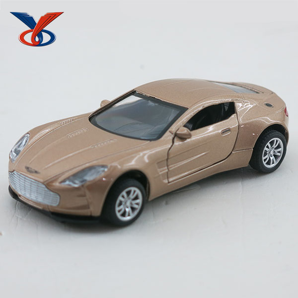 1:36 Electric Open Door Pull Back Alloy Car toys With IC