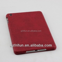 Navy Red fashion cover laptop leather case for ipad