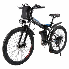 ANCHEER Folding Electric Mountain Bicycle with 26 Inch Wheel, Large Capacity Lithium-Ion Battery