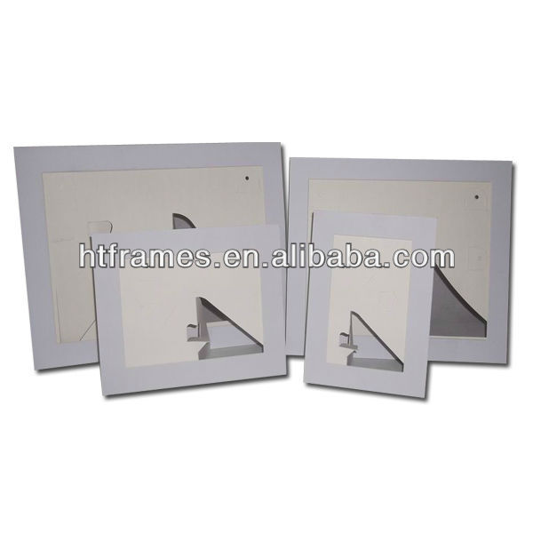 Newest cheap recycled acid free white cardboard picture frame 4x6 5x7 8x10 a4