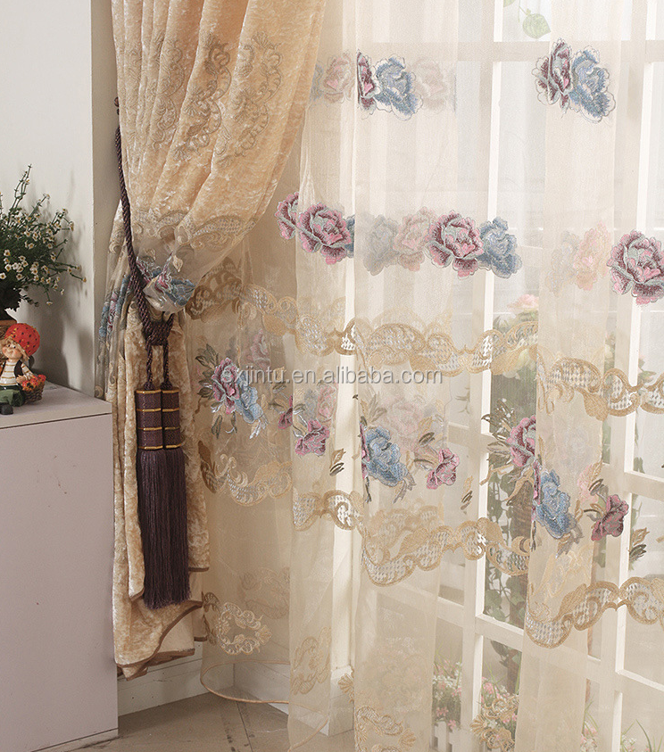 Top quality window decoration sheer curtain