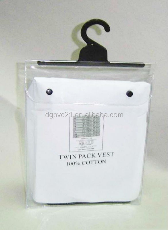 reliable manufacture cheap clear plastic pvc hanger bag for underwear